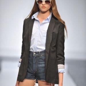 Aritzia Talula Black Wool Blazer
